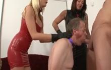 Bisex femdom blowjob