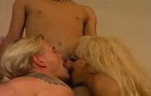 Mature Blonde With 2 Bisex Guys