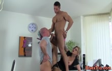 Awesome bisex trio in the office